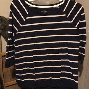 Merona 3/4 Sleeve Striped Sweater